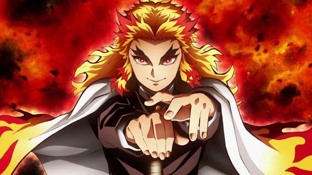 Kimetsu no yaiba mugen ressha red orange anime charager picture