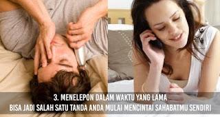 Menelepon dalam waktu yang lama bisa jadi salah satu Tanda Anda Mulai mencintai Sahabatmu Sendiri