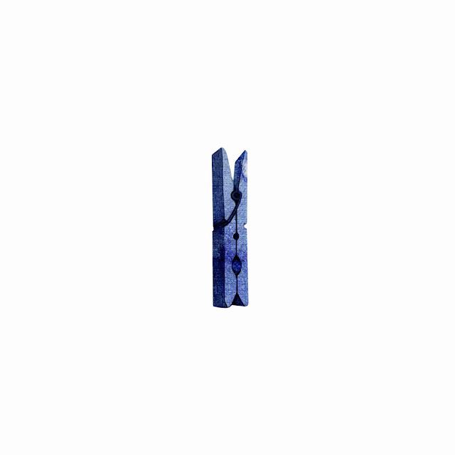 azulejo, cerámica azul, pinza