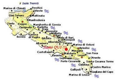 Cartina Puglia Molfetta.La Notte Buia Cartina Della Puglia