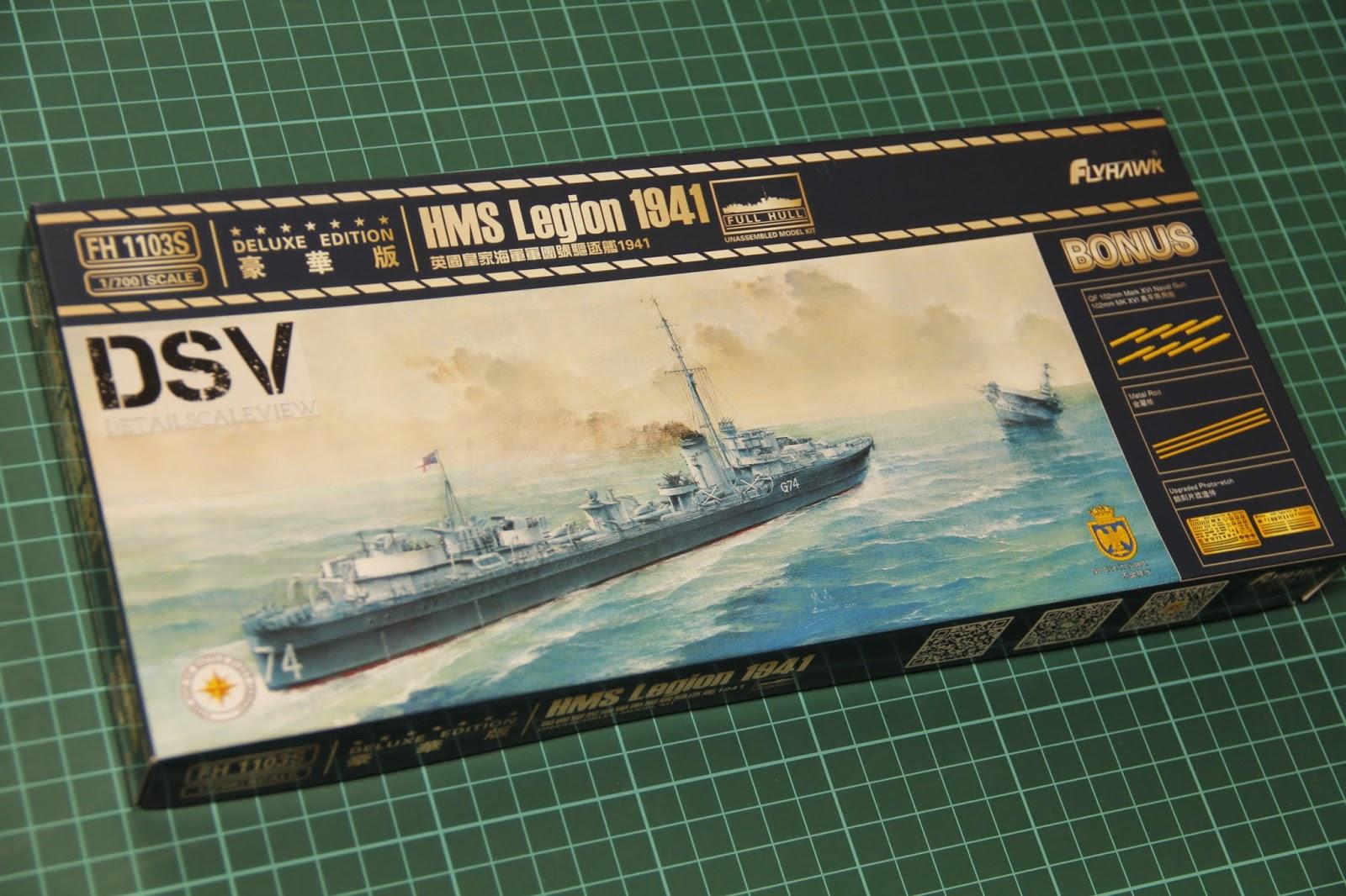 Flyhawk FH1103S 1/700 HMS Destroyer Legion 1941 | eBay