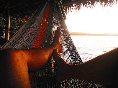 sunsets, naturism, secret cove, paya bay resort, zen, relaxation, hammocks,