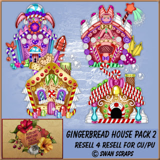 "New Resell 4 Resell Exclusive at my store ""Gingerbread Houses 1"" and More R4R"