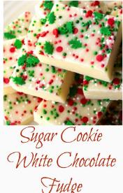 Sugar Cookie White Chocolate Fudge