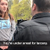 WATCH: Feminist Steals Pro-Life Sign. Then The Cops Show Up.