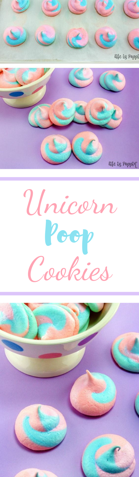 Easy Unicorn Poop Cookies #dessert #party
