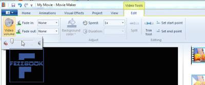 cara edit dengan menngganti suara pada video