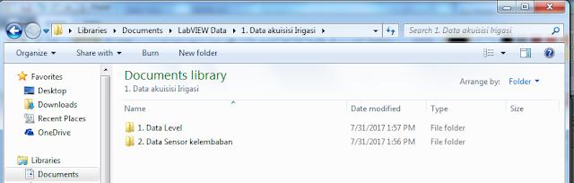 Gambar 4 19 Letak Folder penyimpanan Hasil Akuisisi data 1