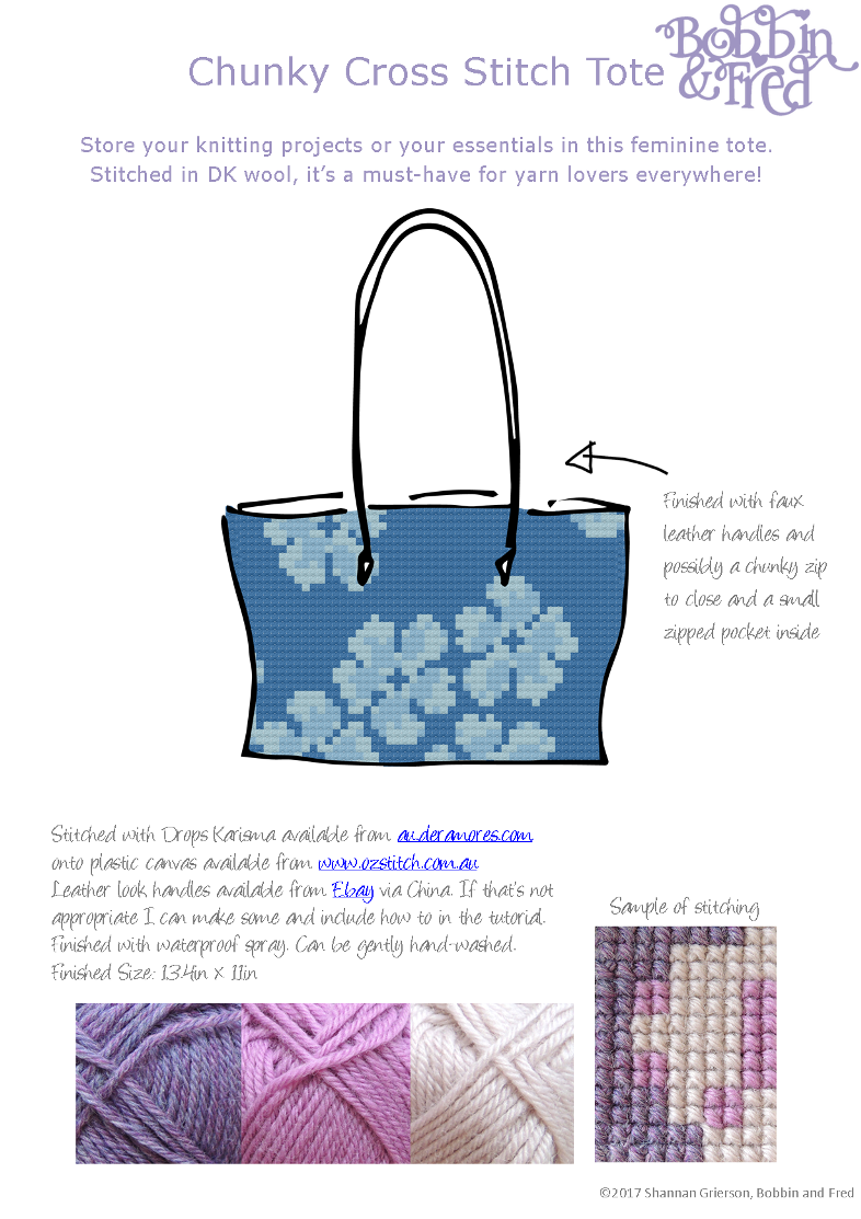 Design Sheet showing bag idea for magazine submission