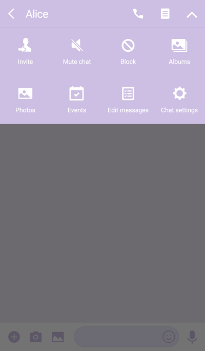 PINKハート ~薄紫ベース