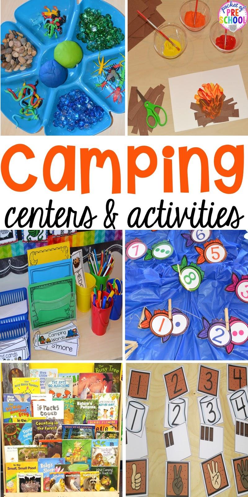 Camping Centers and Activities - Pocket of Preschool [ 1600 x 800 Pixel ]