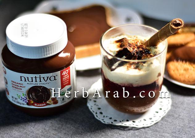 طريقة عمل حلى شوكولاتة نوتيلا كاسات نوتيفا ايهيرب