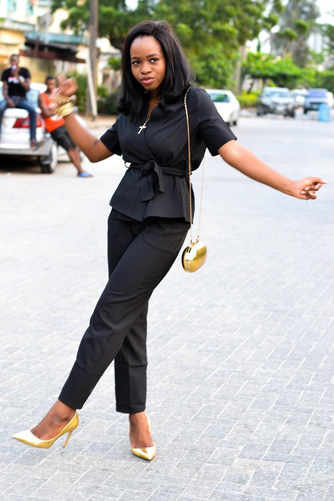 Black Kimono Set in Lagos