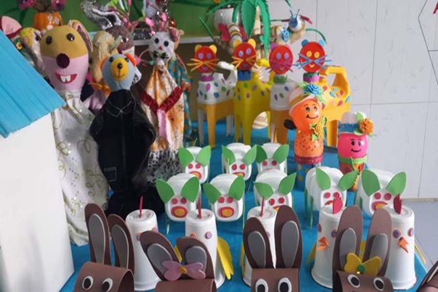 Hội thi đồ dùng đồ chơi tự làm bậc mầm non tại Trường Mầm non Đồng Phú