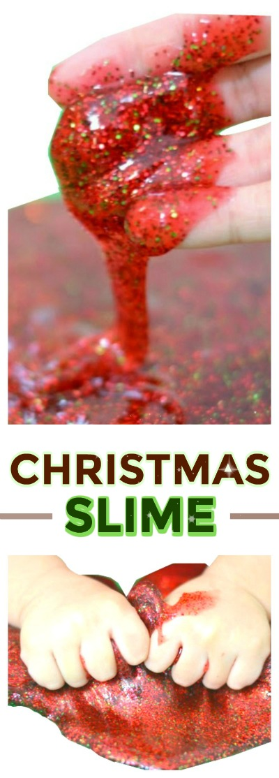SANTA SLIME FOR KIDS: Only 2-ingredients & smells just like Christmas!  #Santaslime #Christmascraftsforkids #slimerecipes #slime #slimerecipe #artsandcraftsforkids #playrecipes #playrecipesforkids #santaslimerecipe