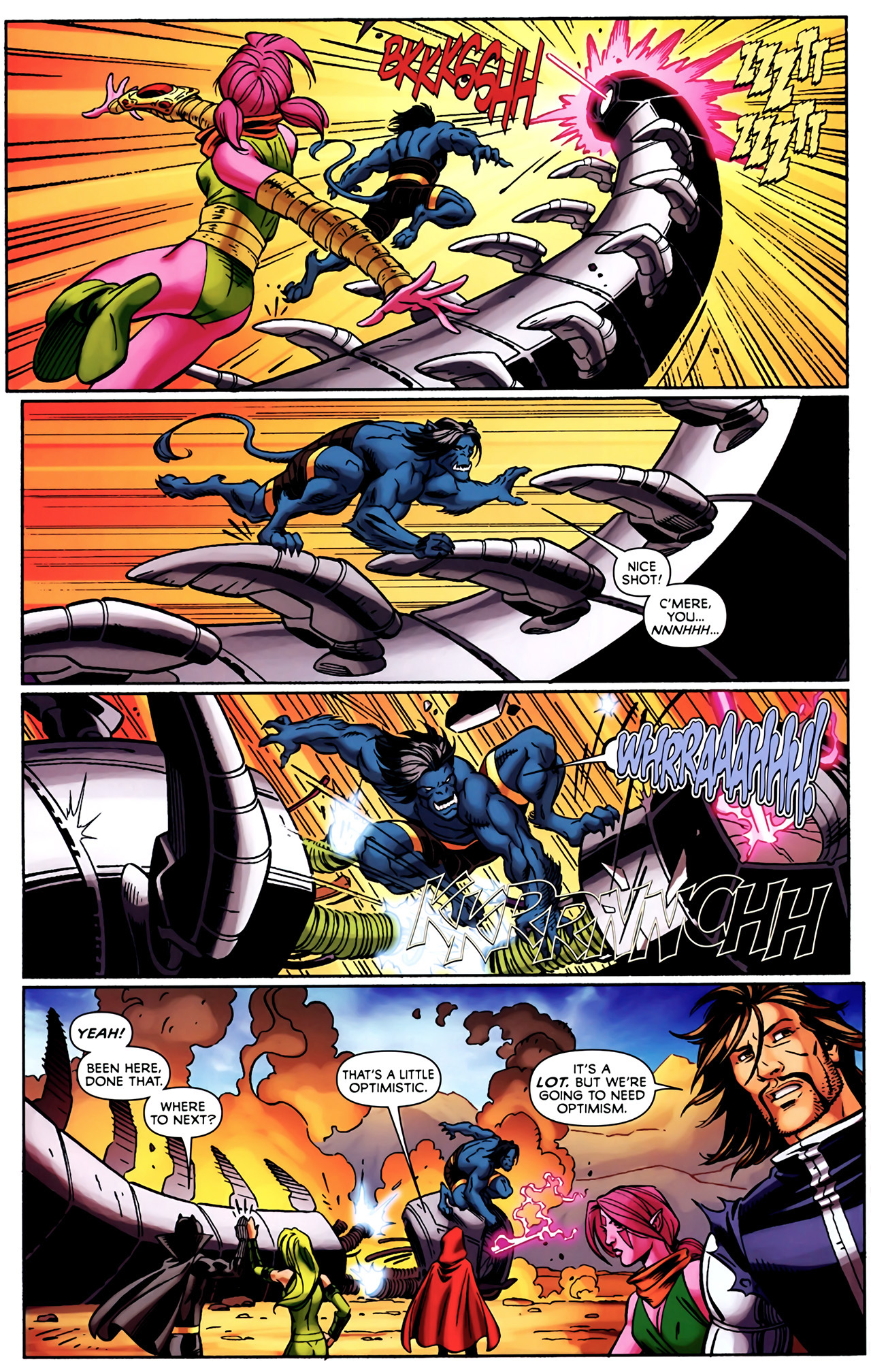 Read online Exiles (2009) comic -  Issue #4 - 5