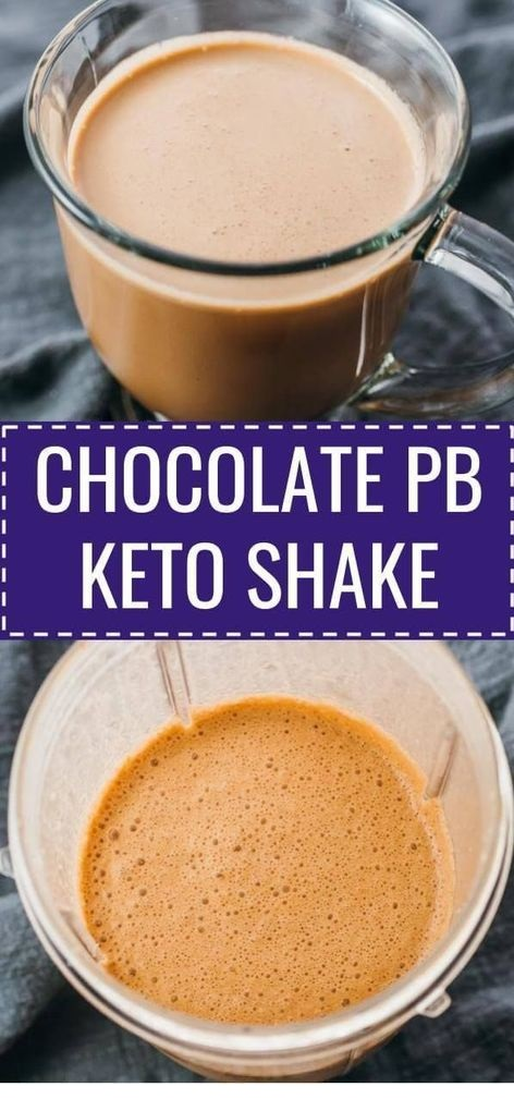 Chocolate Peanut Butter Keto Shake
