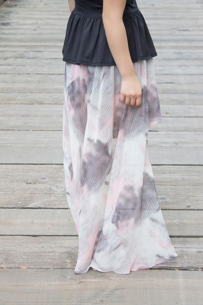 urban outfitters silence + noise eva hem maxi skirt
