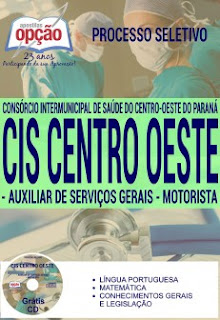 Apostila Concurso CIS Centro Oeste PR - Consórcio Int. de Saúde do Paraná/PR 2016