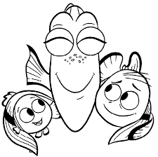 Nemo And Family Coloring Pages Online For Kids