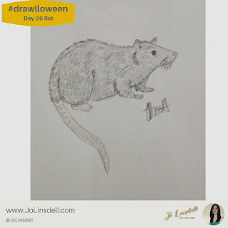 #Drawlloween Day 26 Rat #Drawing #challenge