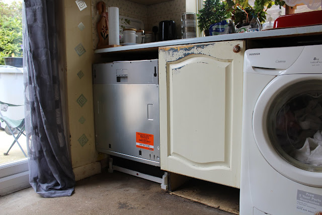 stainless steel fronted dishwasher