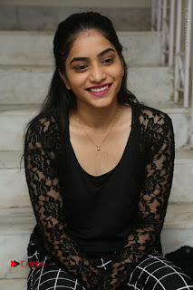 Actress Punarnavi Bhupalam Stills in Black Dress at Pittagoda Press Meet  0064.JPG