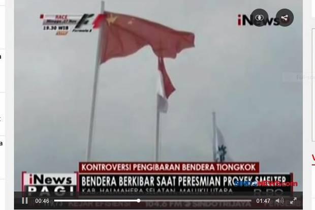 Usut Pihak yang Beri Izin Pengibaran Bendera China