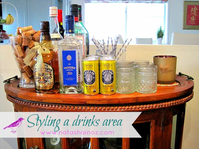 Styling a Drinks Area, Bar Cart