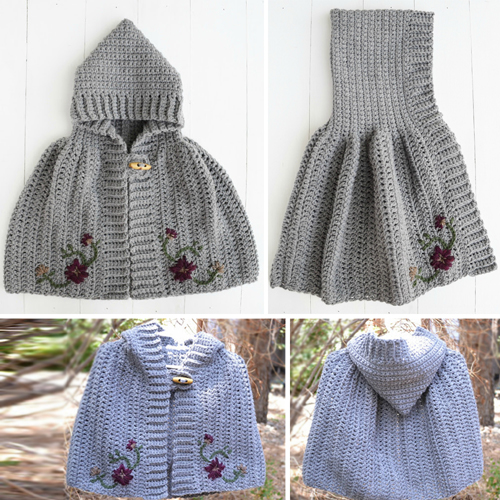 Girl's Crochet Cape - Free Pattern