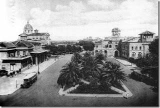 L'aspetto della Piazza di Ostia nel 1940