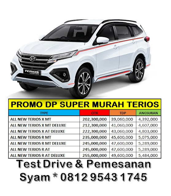 promo terios 2019 dp super murah