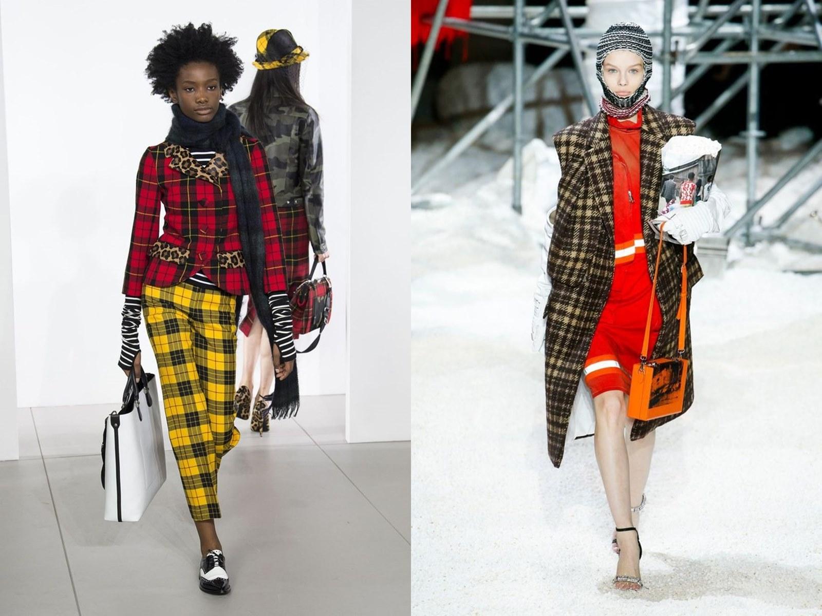 Co będzie w modzie na sezon jesień/zima 2018.2019? Trendy jesień zima 2018, zima 2018, jesień 2018, moda na jesień, moda na zimę, skóra, plastik, krata, kwiaty, zwierzęce wzory, panterka, srebro, neonowe kolory, moda na cebulkę, peleryny, narzuty, logo, logomania