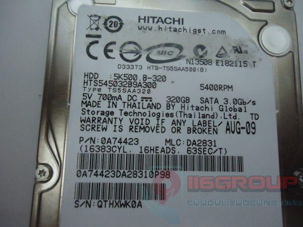 Phục hồi dữ liệu HDD Hitachi 320Gb bị BAD