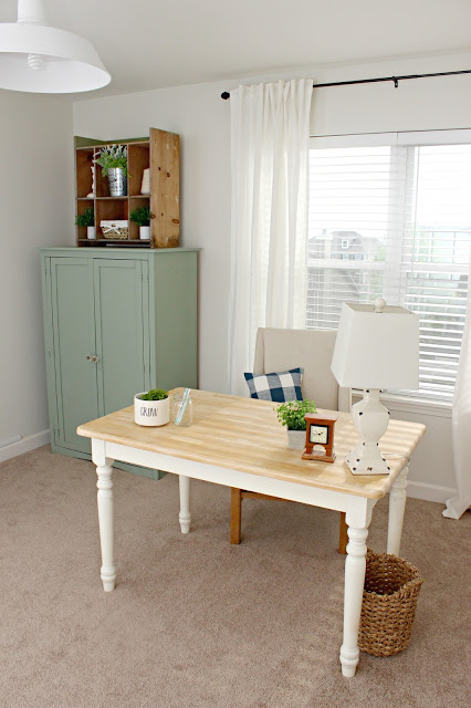 farmhouse style office and craft room