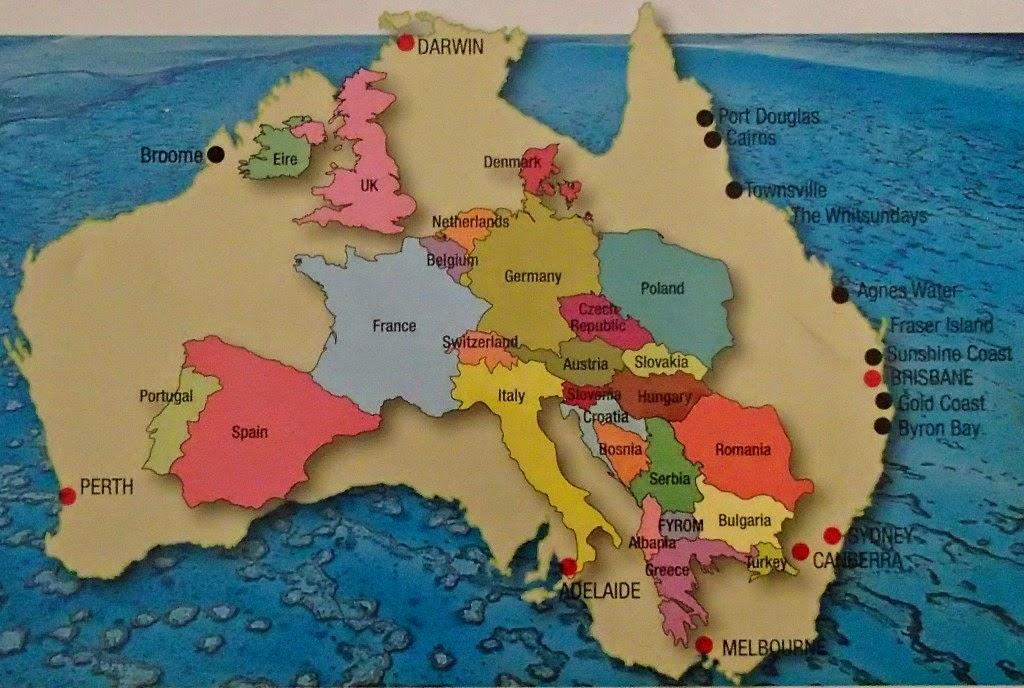 Carte Australie Sur Europe.Vis Ma Vie En Australie Europe Vs Australie