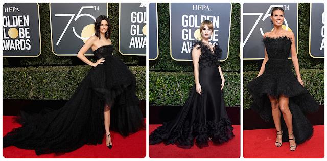 Looks dos globos de ouro 2018; Kendall Jenner; Lily James; Heidi Klum