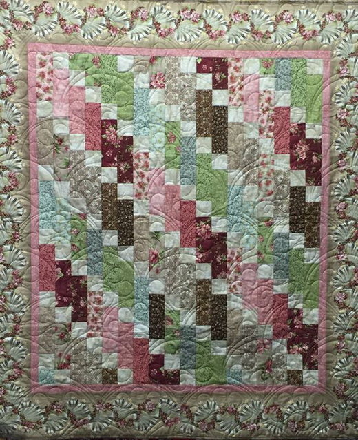 Graceful Cascade Quilt by The Enchanted Quilt, The Free Pattern designed By Monique Dillard of Bear Creek Quilting Company