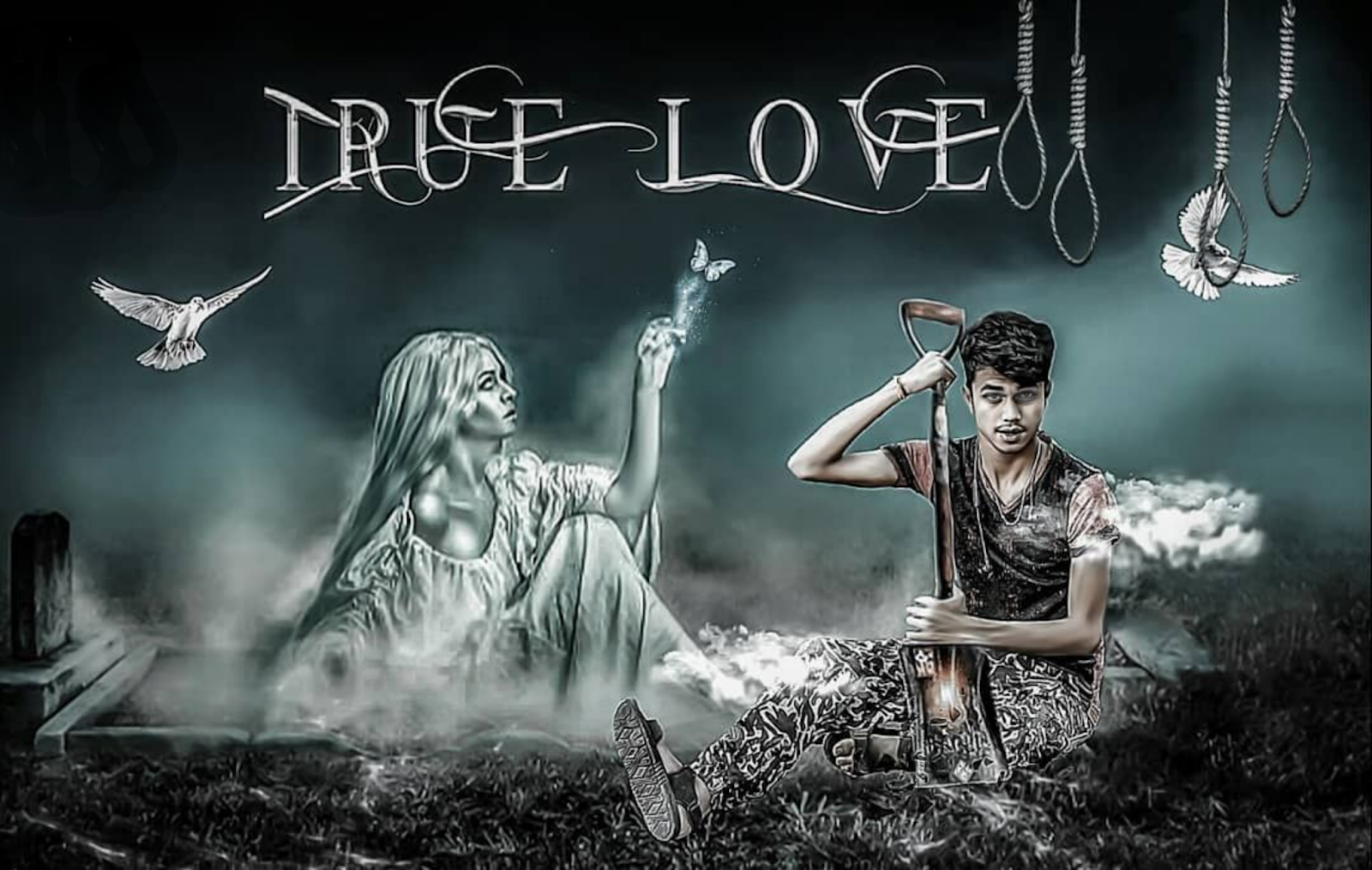 True Love Horror Photo Editing Background Png Download for
