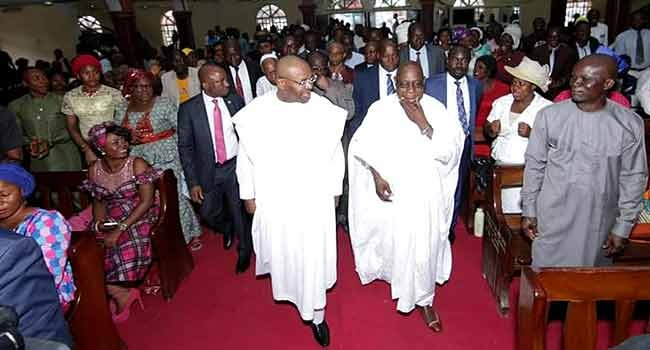 Obasanjo Visits Akwa Ibom, Worships With Udom Emmanuel