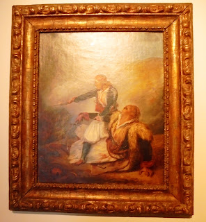 το έργο Ελληνόπουλο Υπερασπίζεται τον Πληγωμένο Πατέρα του του Arry Scheffer στο Μουσείο Μπενάκη