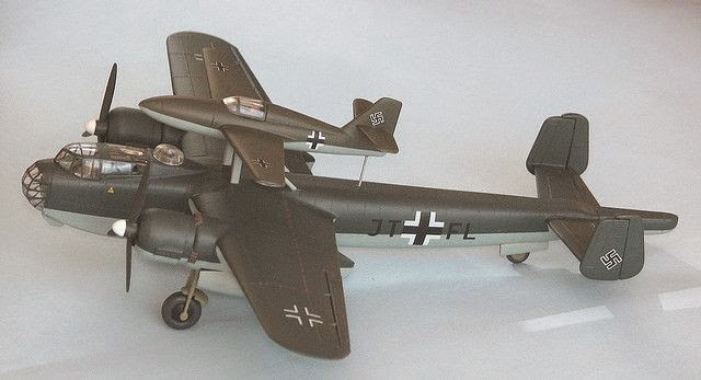 Heinkel 111 with Mistel parasite bomber worldwartwo.Filminspector.com