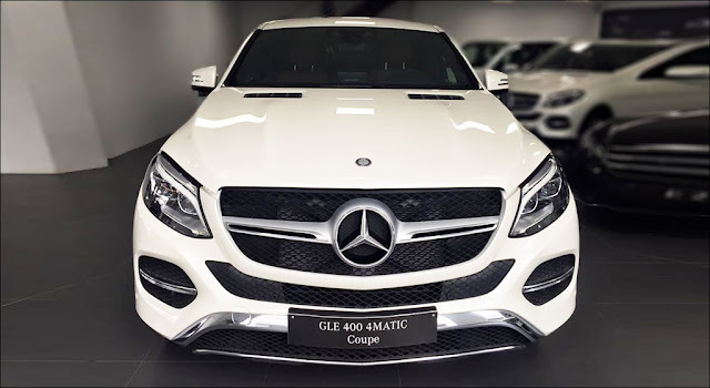 Đầu xe Mercedes GLE 400 4MATIC Coupe 2019 thiết kế thể thao hầm hố