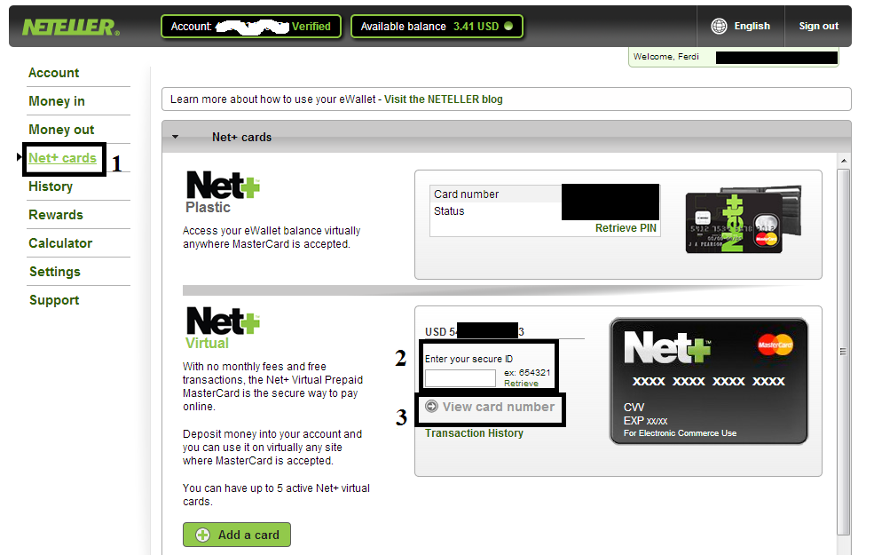 Neteller Secure Id
