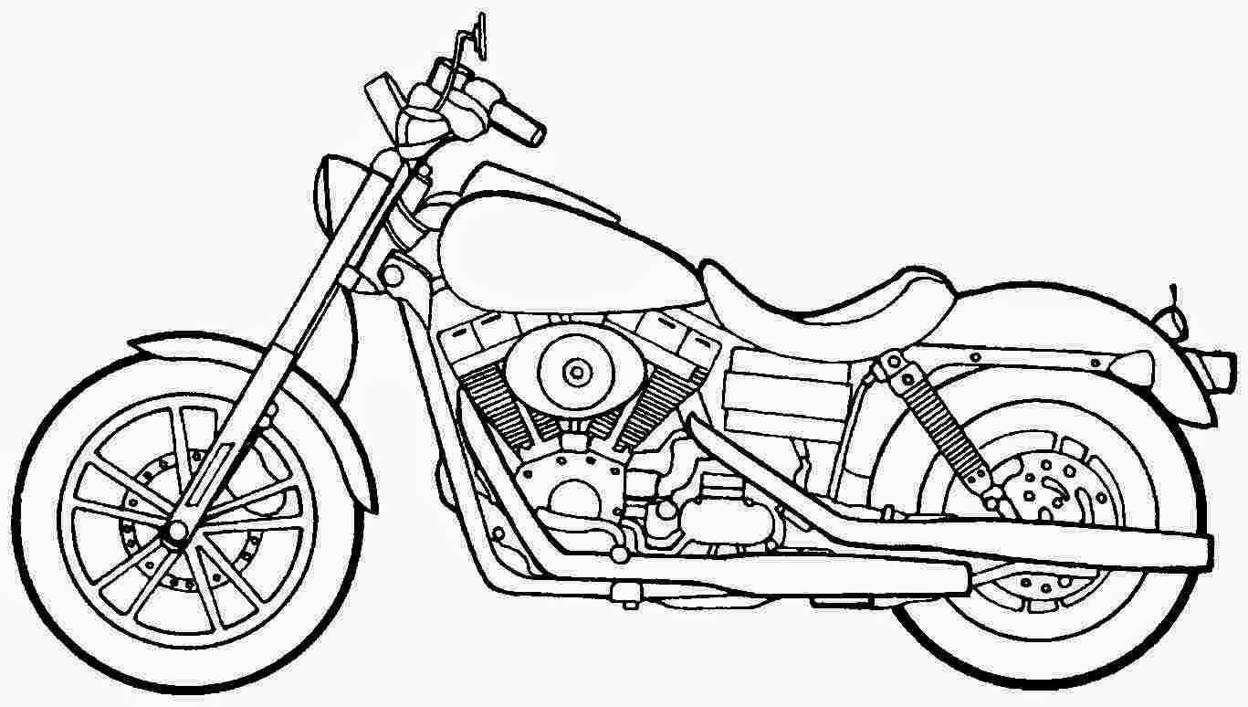 Coloring Pages Motorcycle Free And Printable