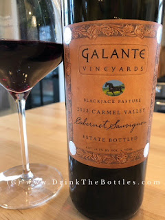 2013 Galante Vineyards Blackjack Pasture Cabernet Sauvignon Label