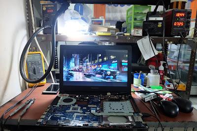 Service Laptop Lenovo g400s tidak tampil di layar