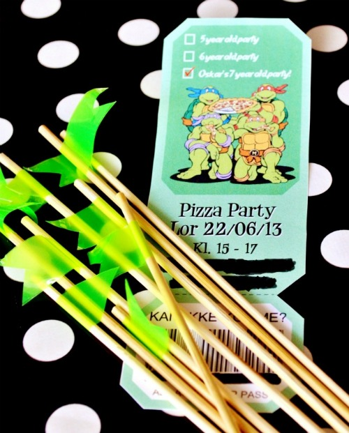 Ninja Turtles Birthday Party & Free Printable: Living Four