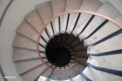 Escalera en espiral vista desde arriba