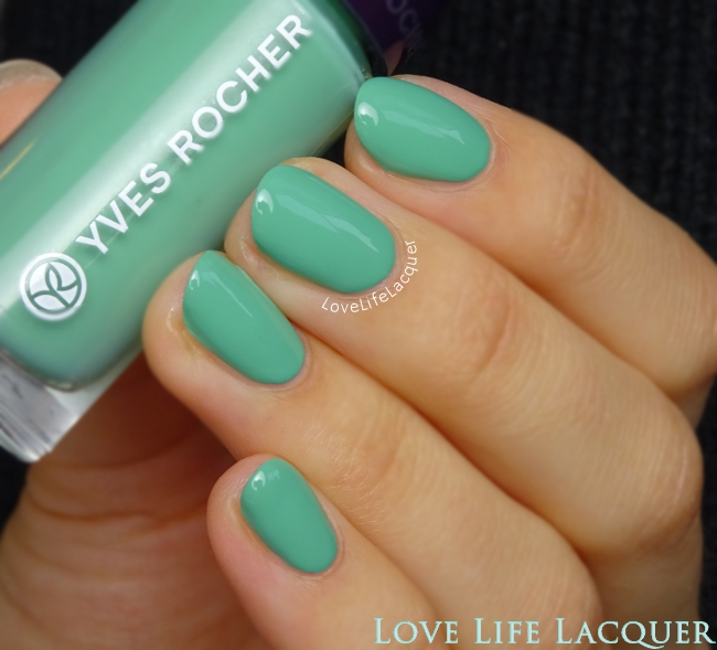 Yves Rocher Menthe swatch review